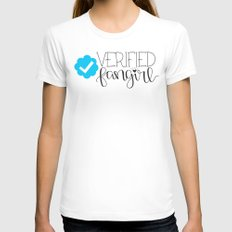 Verified Fangirl Womens Fitted Tee White LARGE