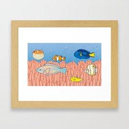 Fish Day Framed Art Print