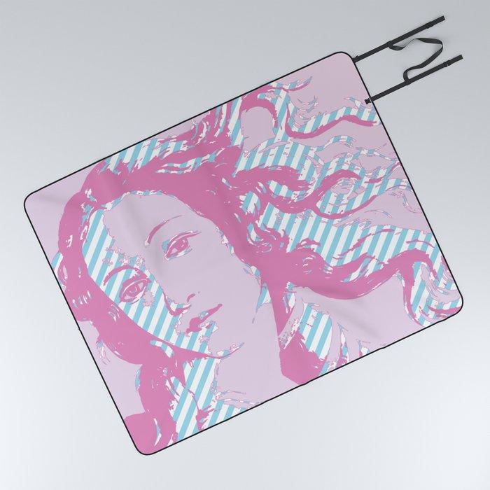 Rebirth of Venus - Pink & Cyan - Trans Pride! Picnic Blanket