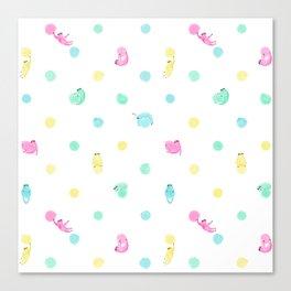 Sloth Dot Canvas Print