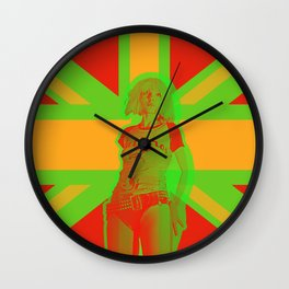 Blondie in Green Wall Clock