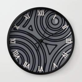 In a roundabout way V Wall Clock