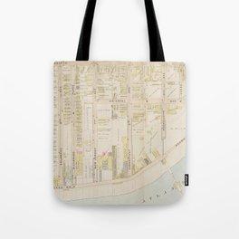 Vintage Atlantic City NJ Map (1896) Tote Bag