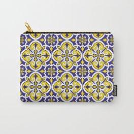Portuguese Tile Pattern – Vintage ceramic azulejos of Lisbon Carry-All Pouch