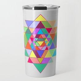 Sri Yantra triangles Travel Mug