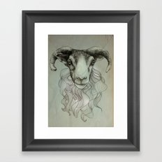 sheeps heid Framed Art Print