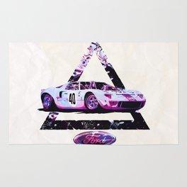 Ford Gt40// Le Mans Race Cars Rug