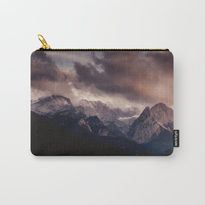 Cross Mountains #sunset Carry-All Pouch