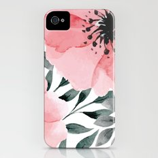 Big Watercolor Flowers iPhone (4, 4s) Slim Case