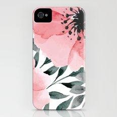 Big Watercolor Flowers Slim Case iPhone (4, 4s)