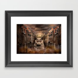 The City Cat Diesel Framed Art Print