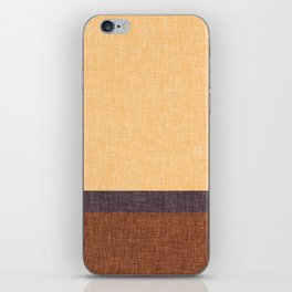 Simple Stripe Abstract with Burlap Pattern iPhone Skin