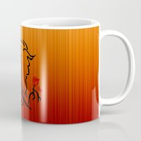 beauty and the beast Mugs featuring Beauty and The Beast by Raisya