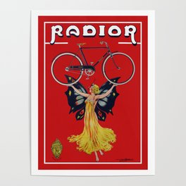 Vintage Radior Bicycle Ad Poster