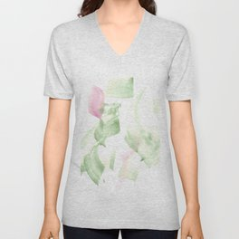 180515 Abstract WP 2 | Watercolor Brush Strokes Unisex V-Neck