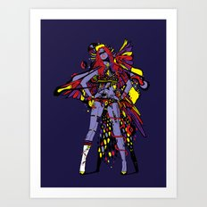 HATHOR ~ BLUE Art Print