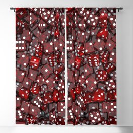 Red dice Blackout Curtain