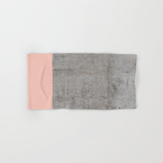 Pale Pink on Concrete Hand & Bath Towel