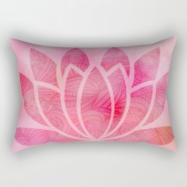 Zen Watercolor Lotus Flower Yoga Symbol Rectangular Pillow