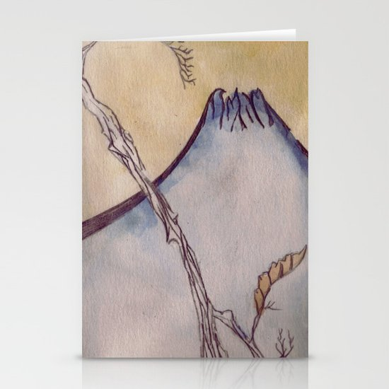 Japanese Mountain Stationery Cards