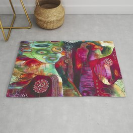 """True Nature"" Original Painting by Flora Bowley Rug"