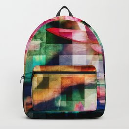 Abstract Flowers And Glass Mosaic Backpack