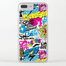 GRAFF--PATTERN Clear iPhone Case