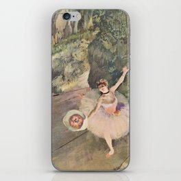 Dancer with a Bouquet of Flowers (Star of the Ballet) iPhone Skin