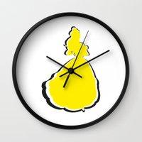 belle Wall Clocks featuring Belle by husavendaczek