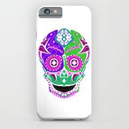 lucha libre sugar skull ecopop iPhone Case