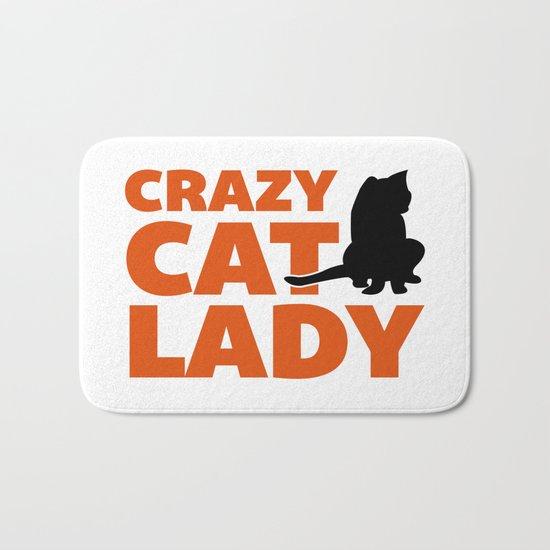 Crazy Cat Lady Funny Quote Bath Mat