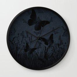 Night Falls On The Meadow Wall Clock