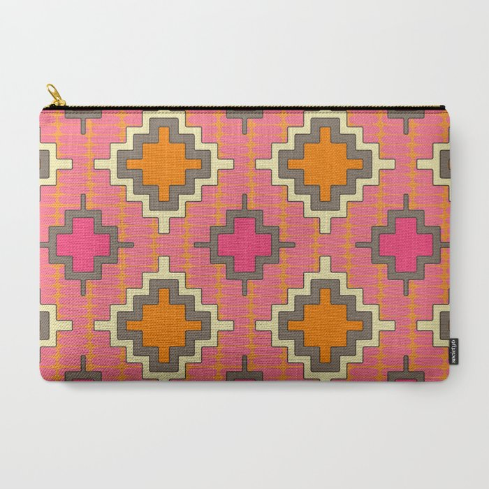tangerine kilim Carry-All Pouch