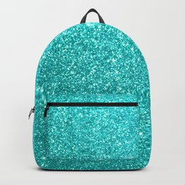 Aqua Blue Glitter Backpack