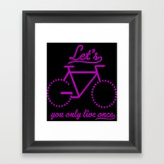 Bike Life Framed Art Print