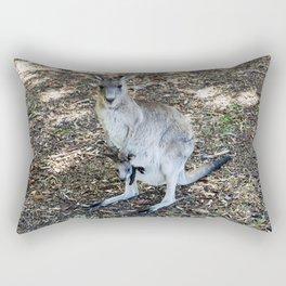 Eastern Grey Kangaroo with Joey Rectangular Pillow
