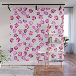 Bright Winter Flowers Wall Mural