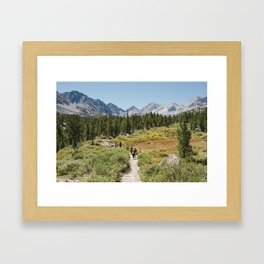 Life on the Trail Framed Art Print