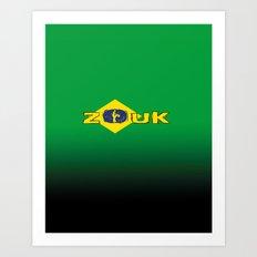 colors of brazil - lets dance brazilian zouk Art Print