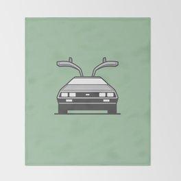 #4 Delorean Throw Blanket