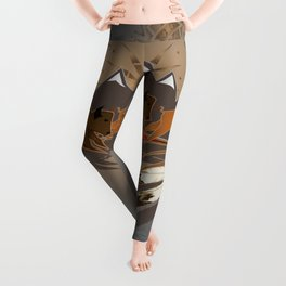 Native American Indian Buffalo Nation Leggings