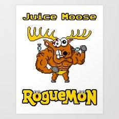 Juice Moose Art Print