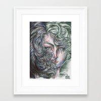 ellie goulding Framed Art Prints featuring Ellie by Alexandra Davidoff