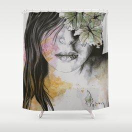One Second II (autumn nude goddess erotic portrait) Shower Curtain