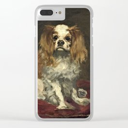 Edouard Manet - A King Charles Spaniel Clear iPhone Case