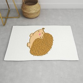 """Cute Animal Tee For Animal Lovers Saying """"Just A Girl Who Loves Hedgehogs"""" T-shirt Design Cute  Rug"""