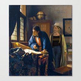 The Doctor and Vermeer's Geographer Canvas Print