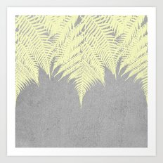 Concrete Fern Yellow Art Print