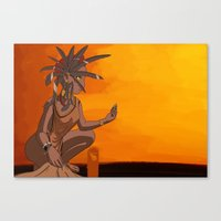 african Canvas Prints featuring  African by Prepress