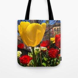 Yellow Tulip Original Photograph Tote Bag